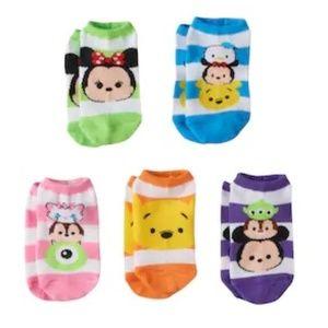 Disney's Tsum Tsum 5-pk. No-Show Socks (NWT)